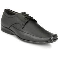 HNT Men'S Black Lace-Up Derby