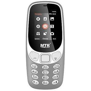 MTR 3310 (Dual Sim, 1.8 Inch Display, 800 Mah Battery, Grey)