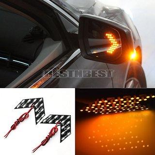 2pcs Car styling 14 SMD LED Arrow Panel Light Car Side Mirror Signal Car Rear View Mirror Indicator Light