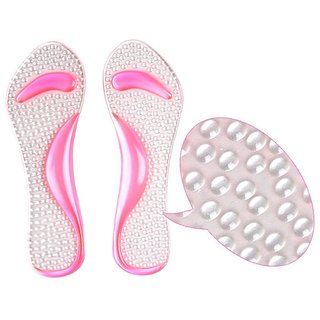 Aeoss silicone seven points pad half-size invisible arch anti-slip pad shock-absorbing shoes high heels insole