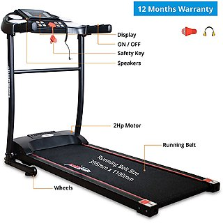 Healthgenie Motorized Treadmill 3911M with silicone Lubrication Max Speed 10 Kmph