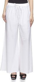 White Flaired Plazzo Pant for Women