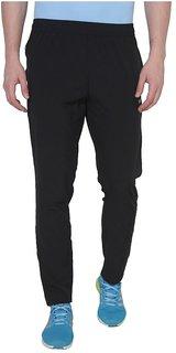 Black Polyester Lycra Track pants