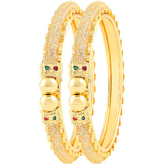 MJ Smoky One Gram Gold Plated Pack Of 2 Bangle For Women