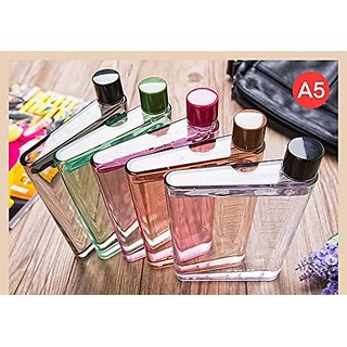 a8b9bbf839 Skywalk Portable Reusable Slim A5 Size Notebook Water Bottle Bpa-free 420ml  Multipurpose Made For