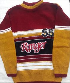 Boys Round-neck Full Sleeve Sweater