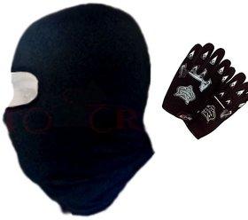 Combo Black Knighthood Gloves+ Balaclava Face Mask