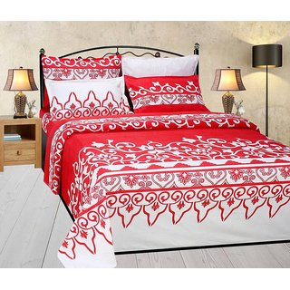 3D Designer Printed Double Bedsheet with 2 Pillow Cover