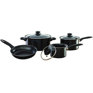 # High quality non-stick coating Cookware Set, 7-Pieces (Black)