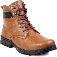 Baton Men's Tan Lace-up Boots