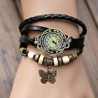 Vintage Butterfly Analog Watch - For Girls, Women