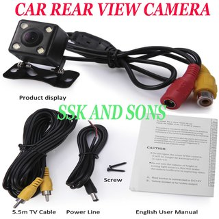 Rear View Night Vision Camera Lens 2.5mm Jack with 6 Meters Cable for Car Dvr Mirror Recorders 4 Led Reverse Camera