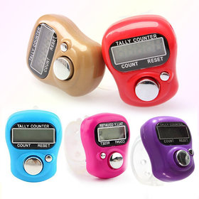 5 Pcs. Premium Quality Hand Tally Counter Portable Puja Finger Counter (Multicolor)