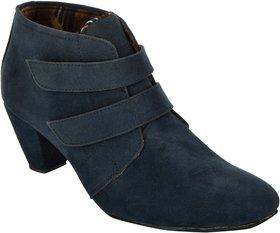 Exotique Womens Blue Casual Boots(EL0031BL)