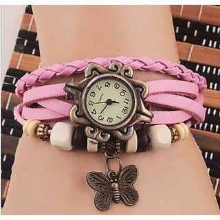 Glory Pink watch for Girls  Women (Round)