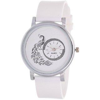 KK Sales new brand white more analog watch for girls