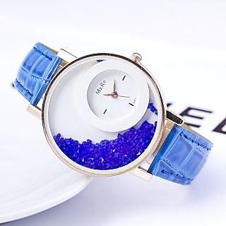 Mxre Blue Womens watches ladies watches girls watches designer watches crystal inside By KK