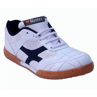 Montex White Sports Badminton Shoes