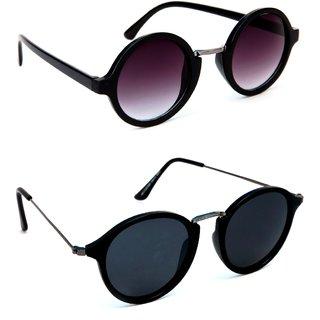 174d9872c47 Buy TheWhoop New Combo Black Round Unisex Sunglasses Online - Get 41 ...
