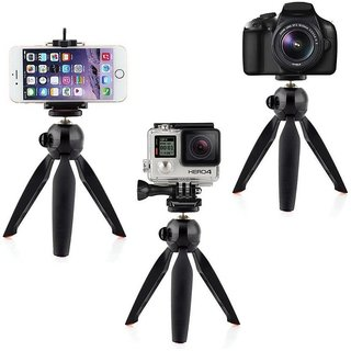 Adjustable Mini Camera Mobile Phone Camera Stand Clip Bracket Holder And Tripod universal mobile phone clip