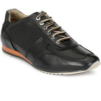 El Paso Men's Black Artificial Leather Lace Up Comfort