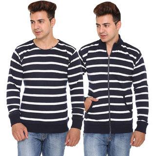 Shaun Men's Multicolor Round Neck Sweatshirt