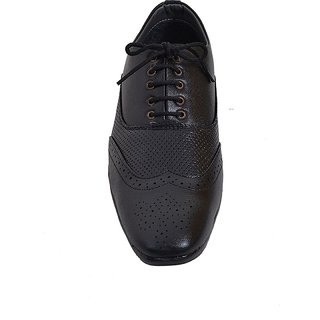 Men's Synthetic Lether Black Formal, Party Shoes