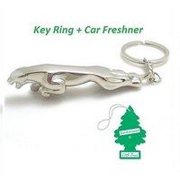 Combo Of Jaguar Key Chain + Hanging Air Freshner