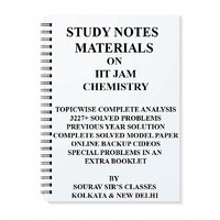 IIT JAM CHEMISTRY 2018 STUDY MATERIAL WITH MODEL SOLVED PAPERS TOPIC WISE ANALYSIS