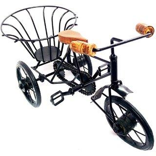 Shilpi Beautiful Design Showpiece Wooden  Wrought Iron Small rickshaw