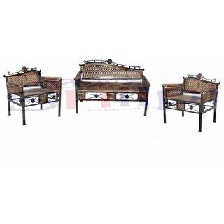 Shilpi Amazing Design Living Room Big Sofa Set / Beautiful Hand Carving Sofa Set Of 3 PCs