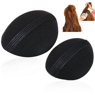 black colour 2pcs hair puff women hair accessories