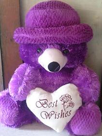 Purple Teddy Bear Height 15 Inch