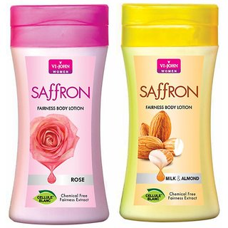 Body Lotion Rose Milk Almond 250 ml (Pack of 2)