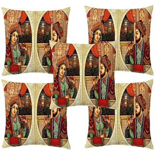 Angel Homes Set of 2 Designer Cushion Covers(16x16 Inches) A045