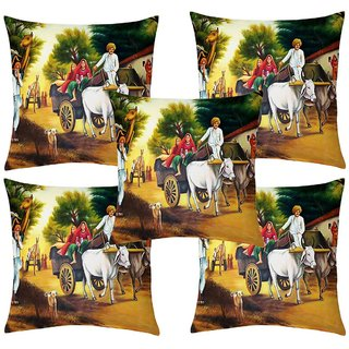 Angel Homes Set of 2 Designer Cushion Covers(16x16 Inches)A048