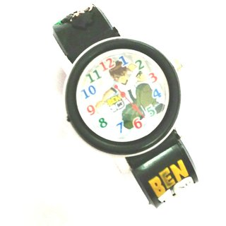 Kids watch Ben10 analog white dial wrist watch by Instadeal