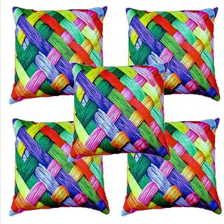 Angel Homes Set of 2 Designer Cushion Covers(16x16 Inches)A051