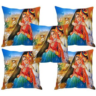 Angel Homes Set of 2 Designer Cushion Covers(16x16 Inches)A052