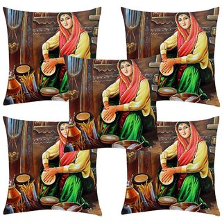 Angel Homes Set of 2 Designer Cushion Covers(16x16 Inches) A053