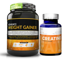 Advance Weight Gainer 1Kg (2.2LBS) Banana Sugar Free +