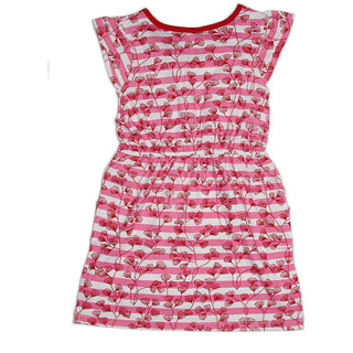 Pikaboo Pink pocket printed stripe dress for Girl (3-4 Years)
