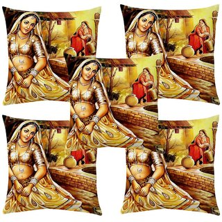 Angel Homes Set of 2 Designer Cushion Covers(16x16 Inches) A082