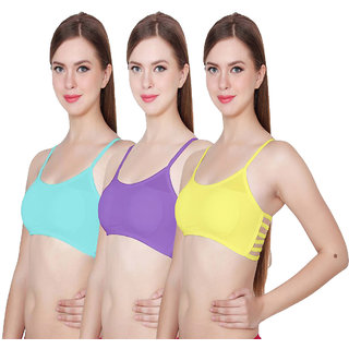 871c5b53f48cc 49%off Hothy 6Straps Yellow Sky Blue   Turquoise Bralette Bra (Set Of 3)