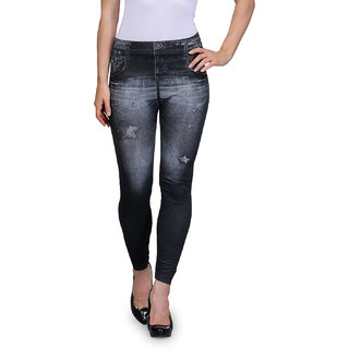 Oleva Black Star Denim Look Jegging