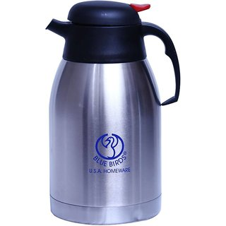 high quality Stainless Thermo Steel Double-Wall Vacuum Insulated Coffee Tea  beverage Coffee Pot  1200ml
