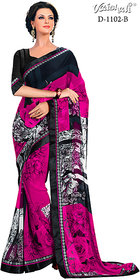 Vaishali georgette pink Printed Saree with Blouse