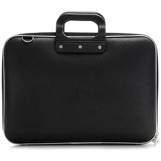 Deal Bugs Stylish  Unisex Hard Shell Briefcase Laptop Bag 15 with Strap, Black