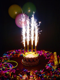 Birthday Cake Sparklers Candle (6 Pcs )