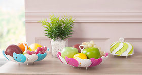Kitchen Multipurpose Lotus Shape Foldable Vegetable and Fruit Basket